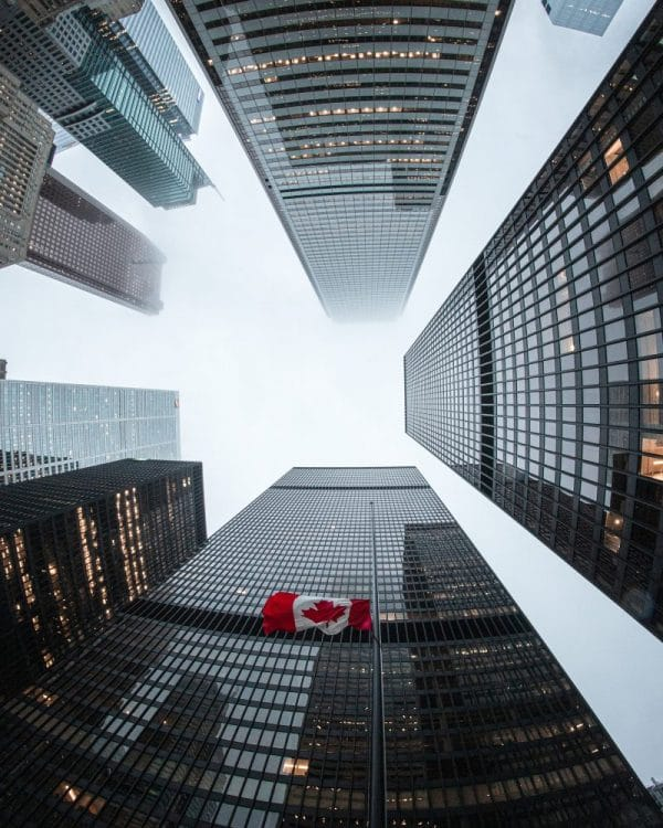 Corporate buildings in Toronto